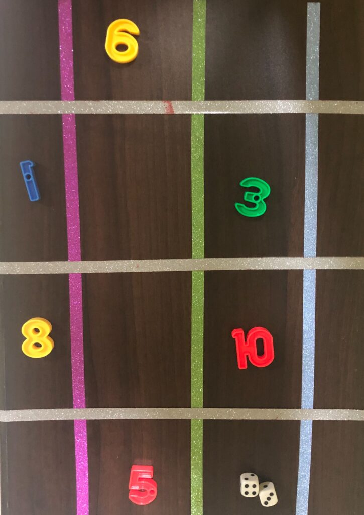 Hop on the numbers: A developmental game