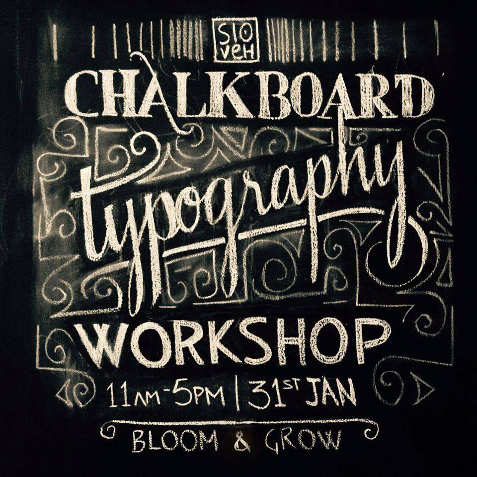 Typography, calligraphy in chalkboard. how to paint chalkboard