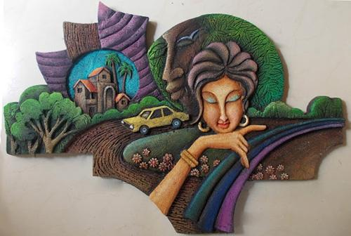 3D MURAL, Mixed media, siporex