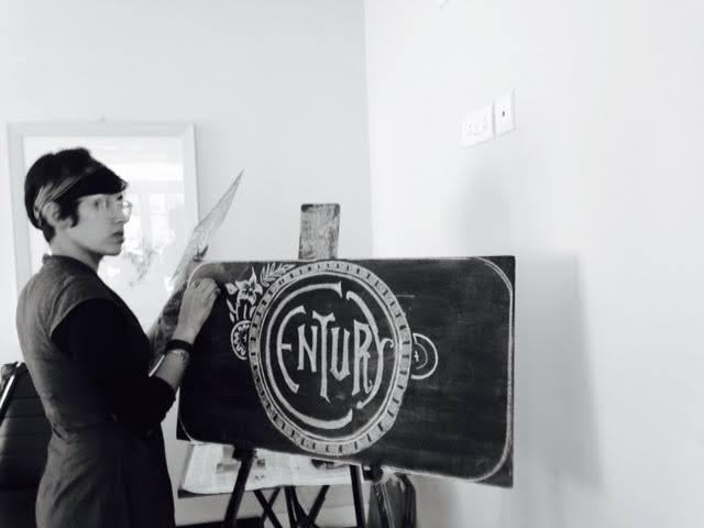 Chalkboard typography