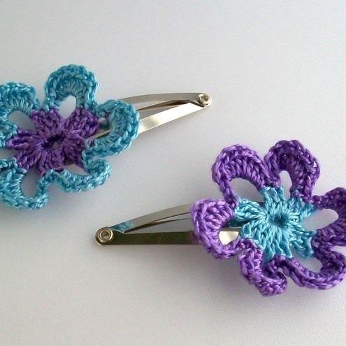 Crochet hair clips