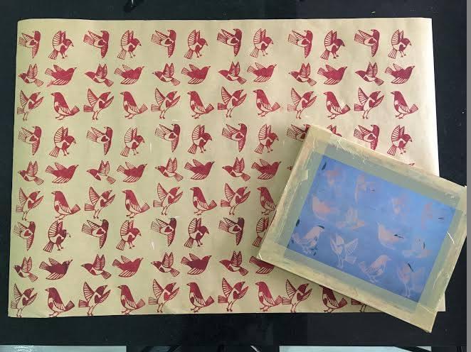 Screen Printing workshop at Bloom & Grow