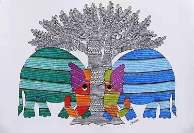 Gond Art workshop in Bangalore