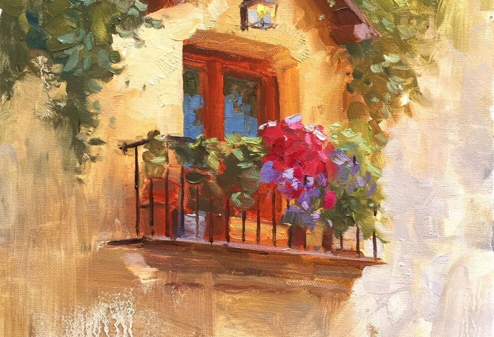 Oil Painting (Venice Balcony Painting) – Two Day Online Session
