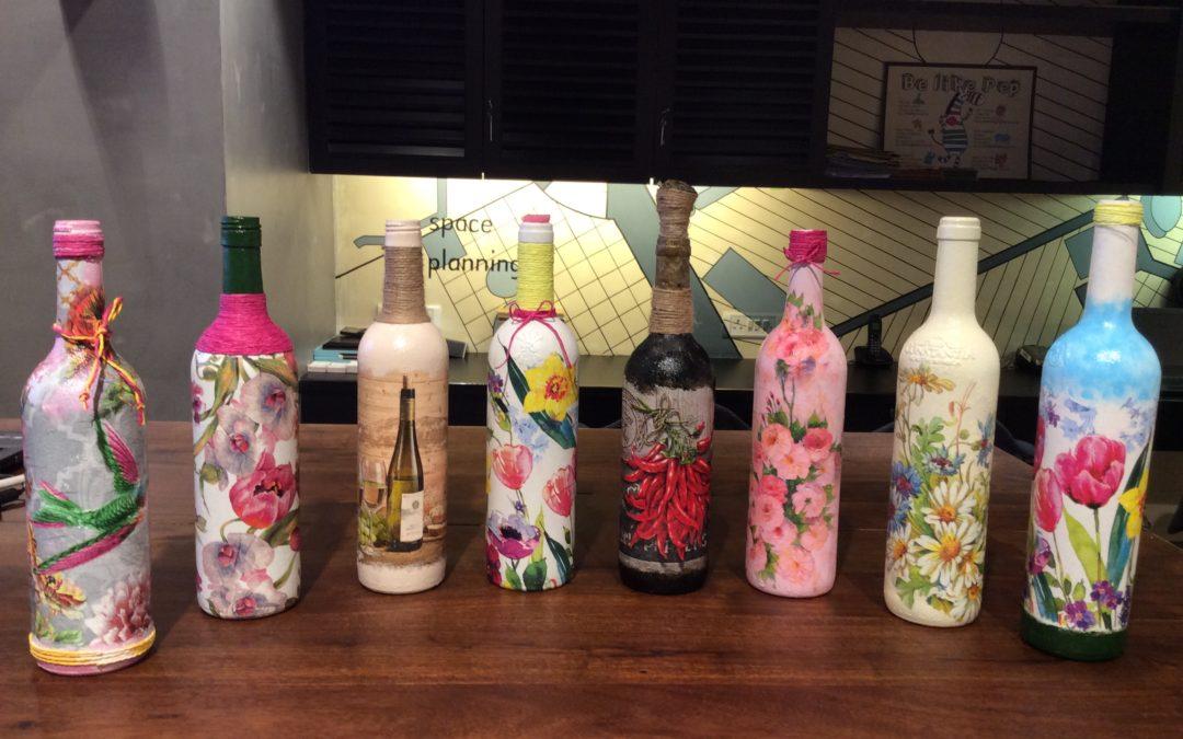 Decoupage Bottle Art Workshop – Weekday workshop in Chandigarh