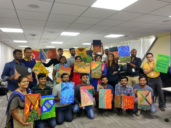 Painting activity for employees