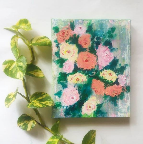 Knife Painting Workshop- Make Abstract Roses (Beginner Painting workshop)