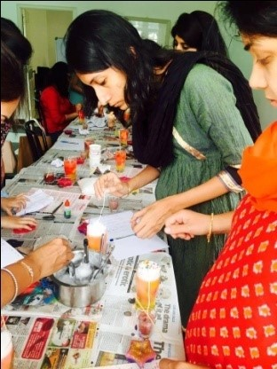 Candle Making Making Workshop for Corporates