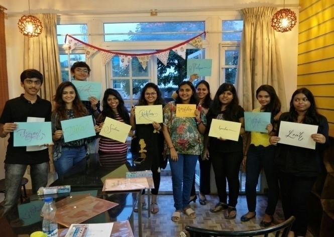 Brush Lettering Workshop for Corporate