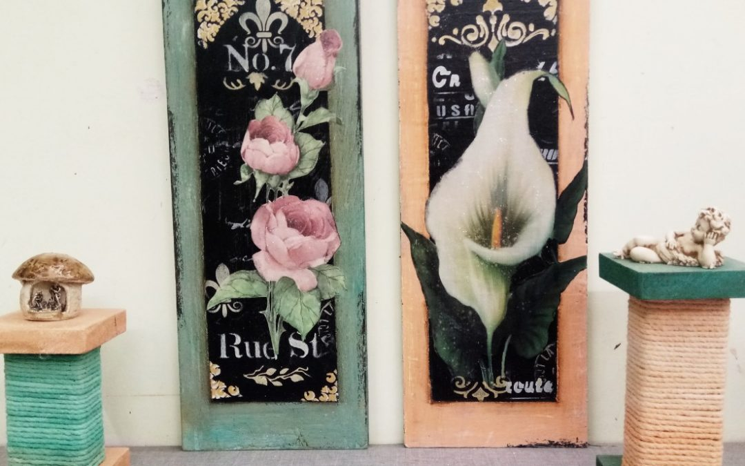 Decoupage with Printed Paper – Create chalkboard Art
