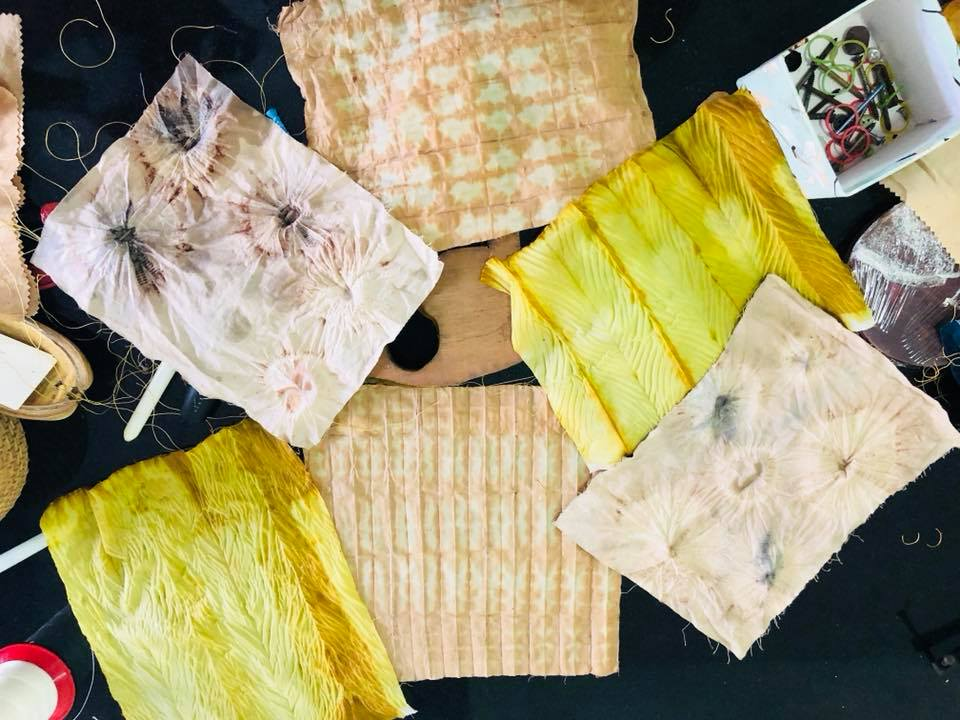 Shibori workshop with Natural Dyes