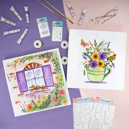 Watercolour and Little Birdie Stamps- Itsy Bitsy Carnival Masterclasses
