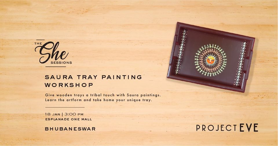 The She Sessions: Tray Painting Workshop(Bhubaneswar)