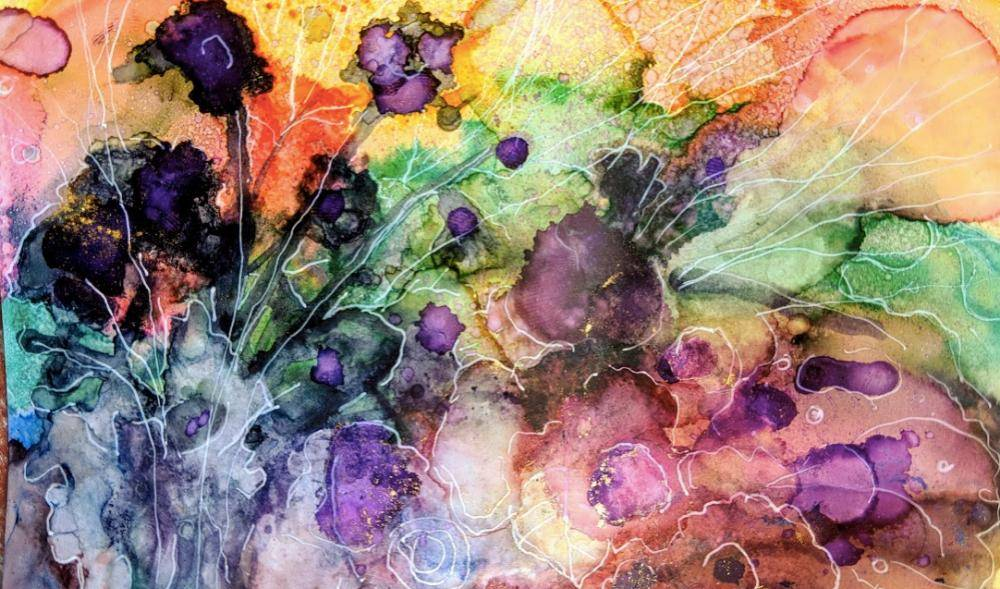 Alcohol Ink Painting- Workshop for Beginners in Bangalore
