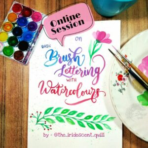 Brush Lettering with Watercolors- Online Workshop