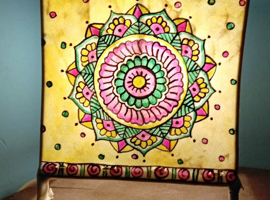 Mandala Lampshades – Beginners workshop in Bangalore