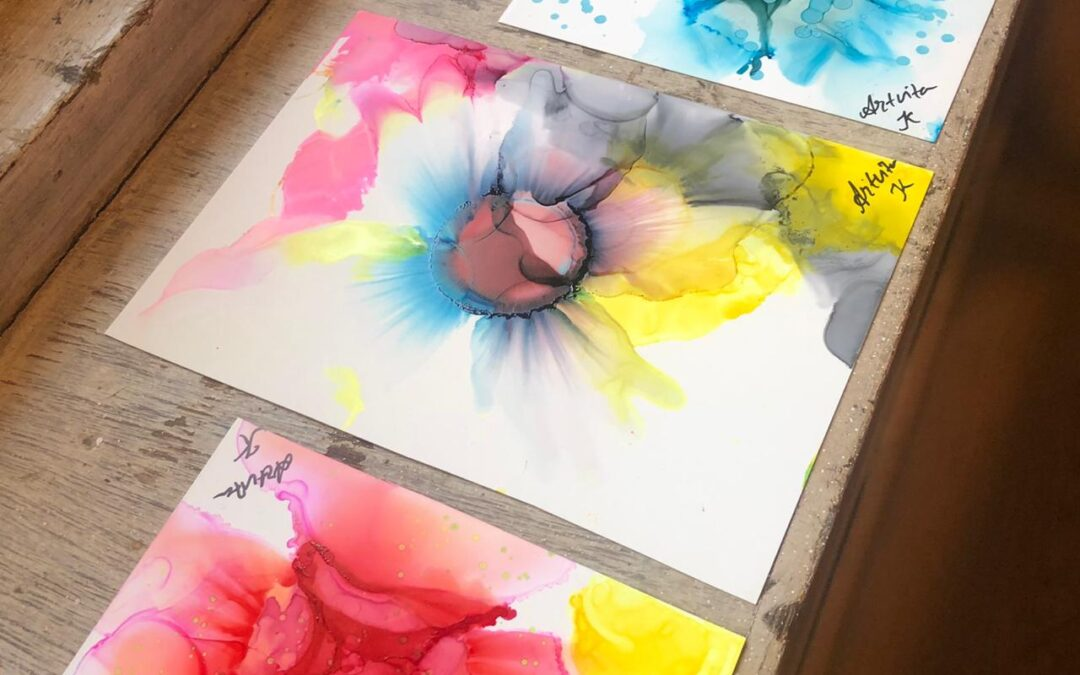 Alcoholic Ink Painting – Online Workshop