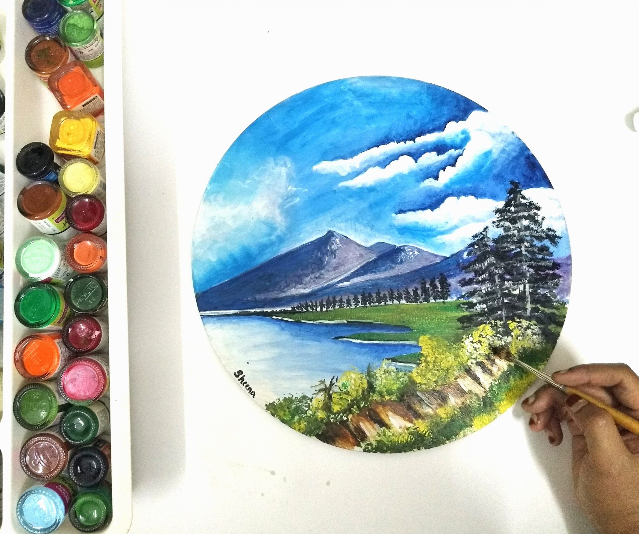 Landscapes with Acrylic - Beginners workshop in Bangalore