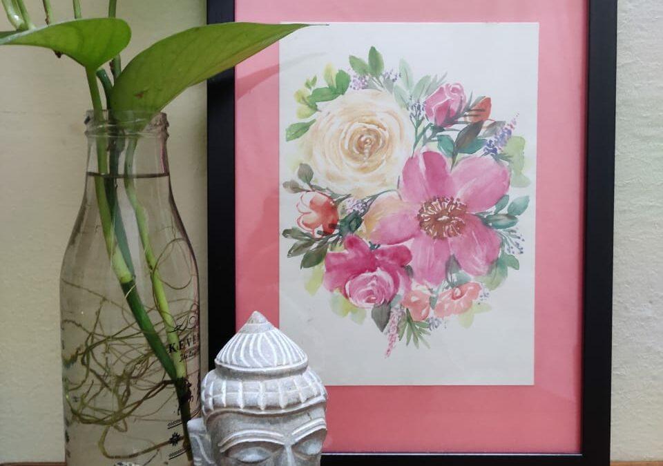 Watercolor floral art – Beginners' workshop in Bangalore