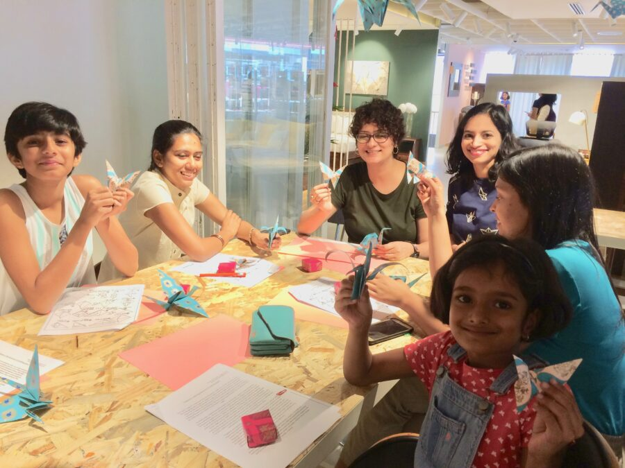 Origami art workshops for corporate