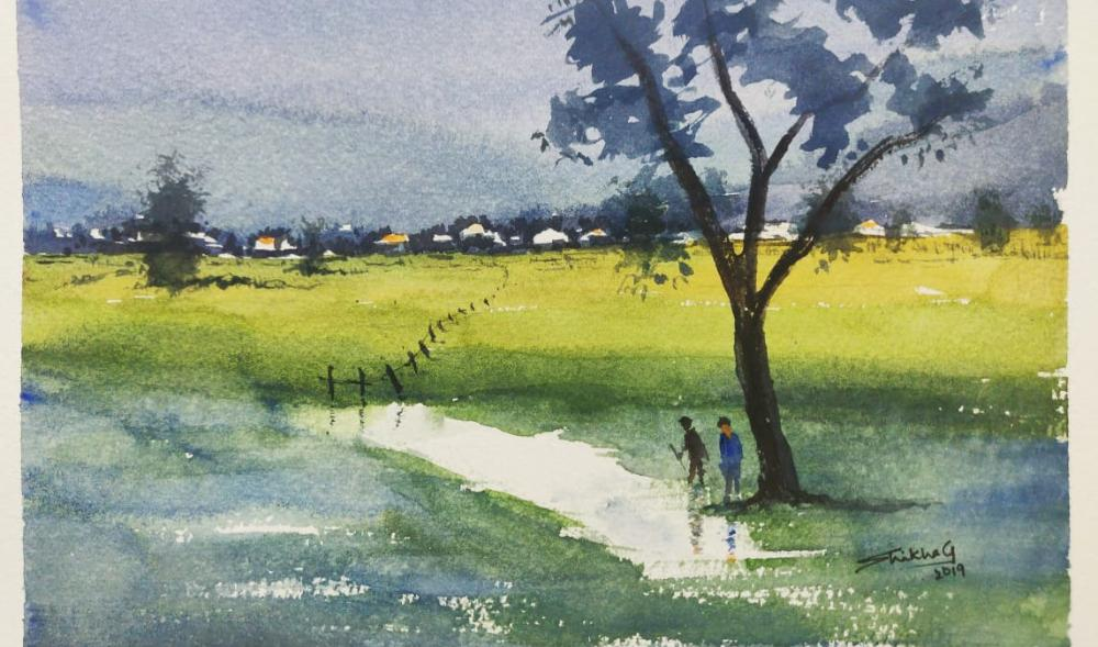 Watercolor Landscapes workshop for Beginners' in Bangalore