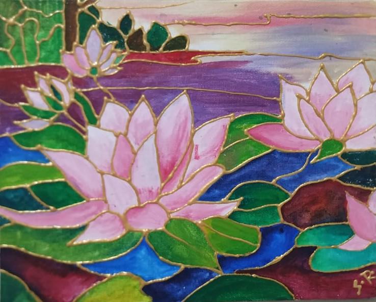 Mural – Placid lake painting workshop for Beginners'