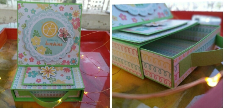 Easel card with drawer – Free online session