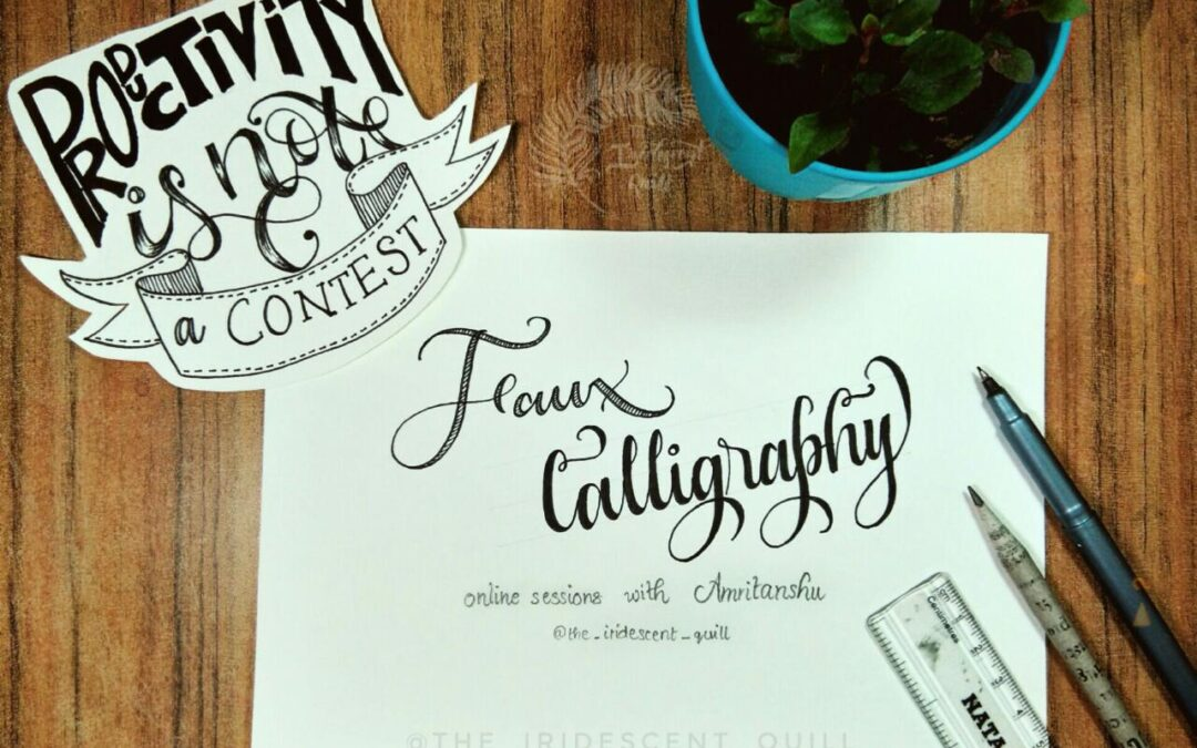 Faux calligraphy – Two Day Online Workshop