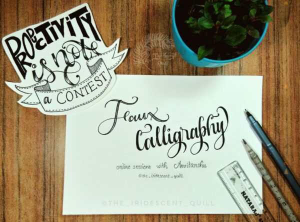 Faux calligraphy online session