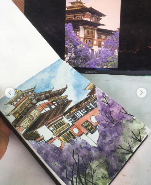 Travel Sketching in Watercolours - Online session