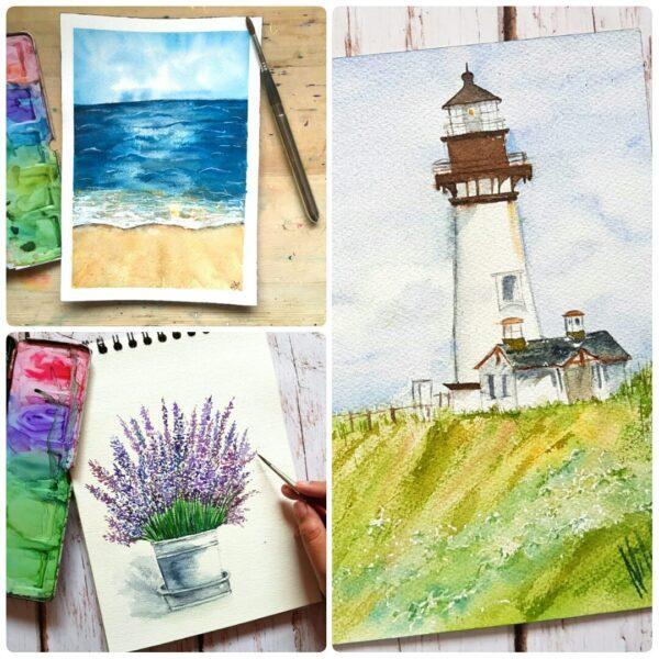 Watercolor Landscapes - online Workshop