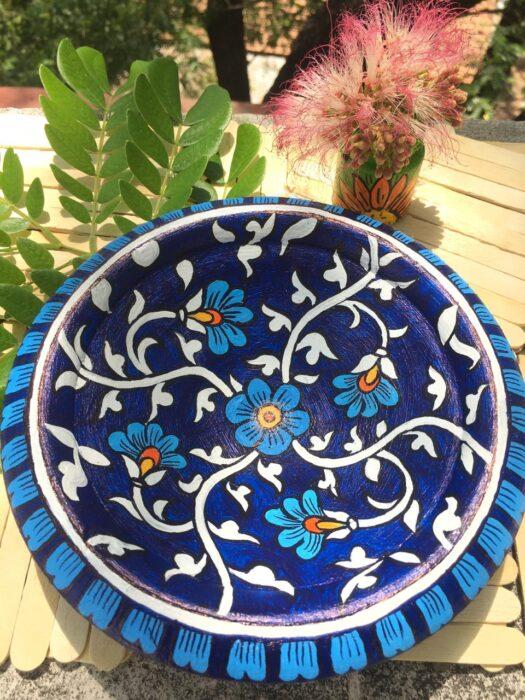 faux blue pottery - online session