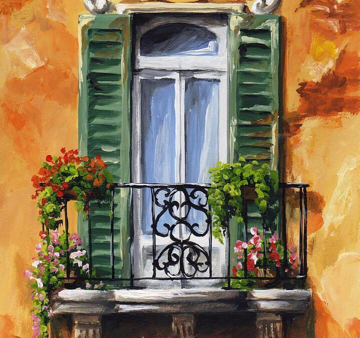 Acrylic Painting – Vintage Balcony Online Workshop