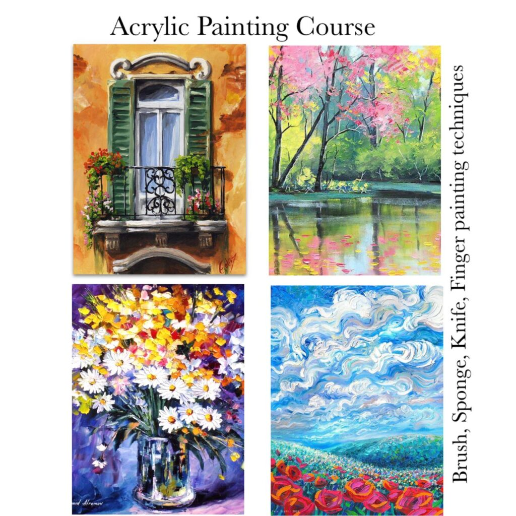 Acrylic Painting - Different Techniques Online Course