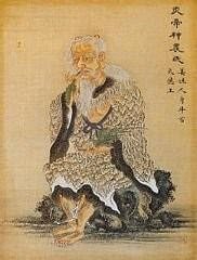 Emperor Shen-Nung holding the cannabis plant 2700 B.C