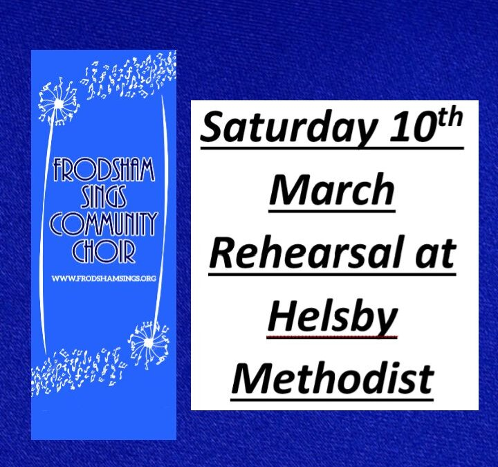 Our second home for rehearsal on Saturday 10 March….