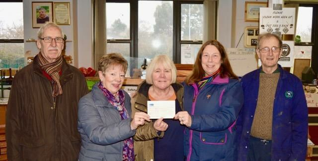 Will to Work receives its donation from Frodsham Sings