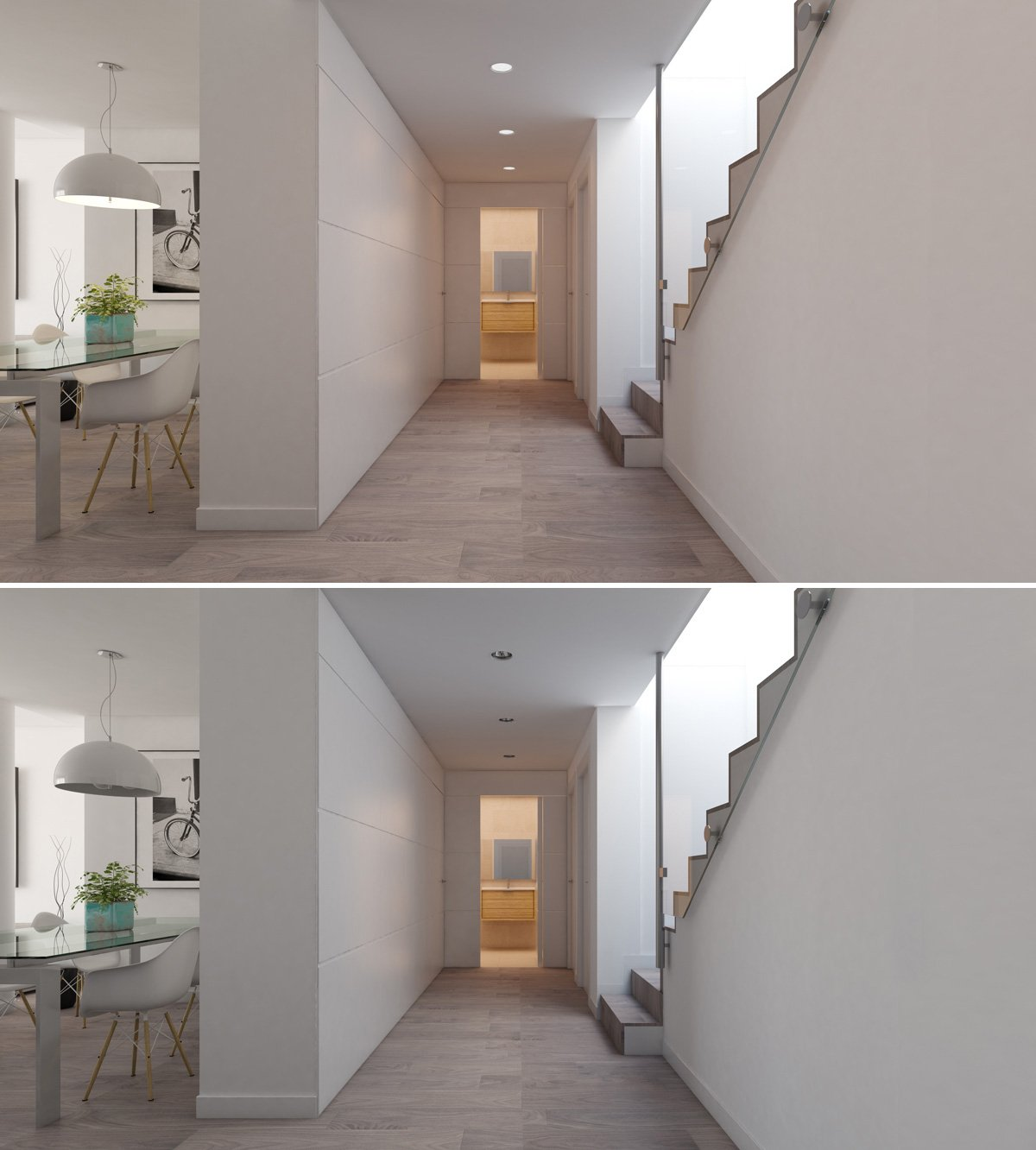 animation troubles interior renders with different lights