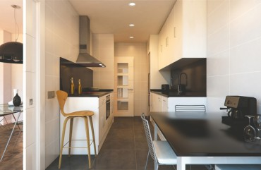 render kitchen view of block of flats at Zaragoza