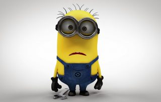 """Minion confused - The confusion of the term """"infografía 3D"""" in Spanish"""