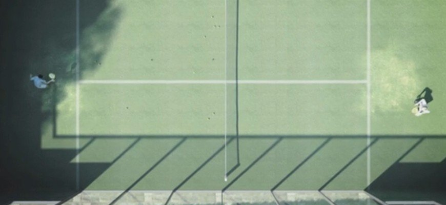 3d animation - render aerial view of padel playground