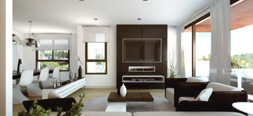 render interior living room view only natural light