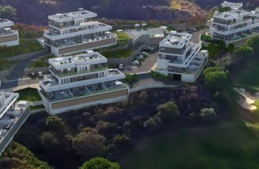 render exterior aerial view of condominium at Mijas Málaga