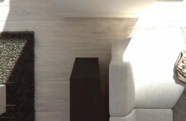 render interior living room detail view of Lagasca 46 luxury block of flats at Madrid