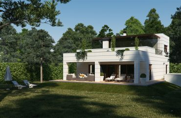 render exterior view of single house at Zaragoza