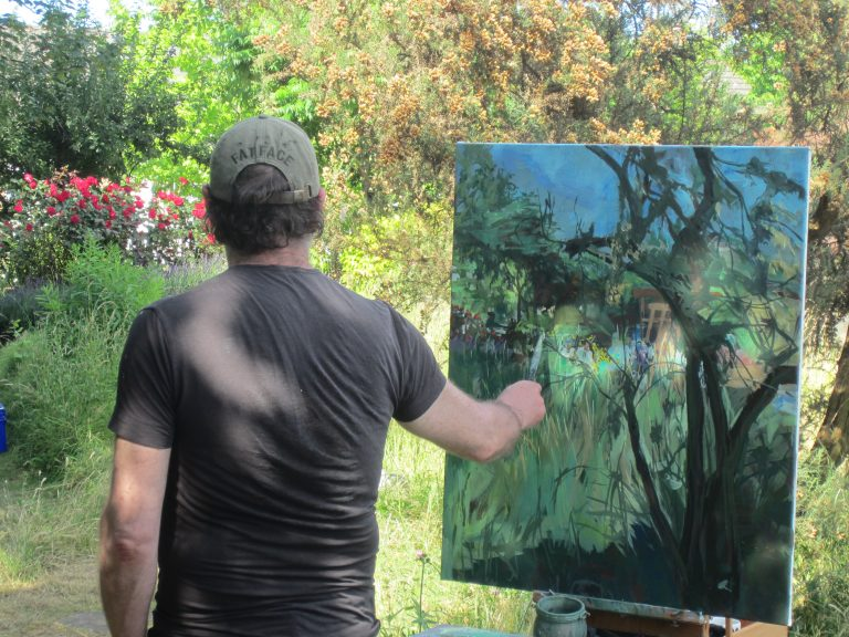 Painting in the Museum Garden