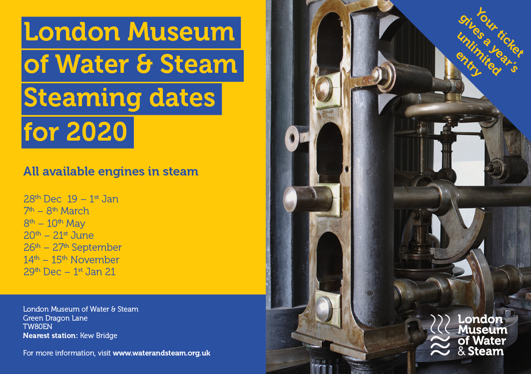 Steaming dates 2020- March 7,8; May 8-10th; June 20th, 21st; September 26th,27th;Nov 14,15; 29th Dec-1st Jan