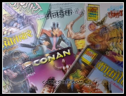 manoj comics, conan, mandrake, angara
