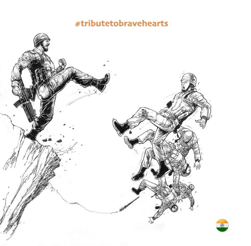 Indian Army  Artwork: Dheeraj Verma