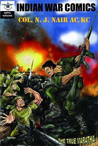 इंडियन वॉर कॉमिक्स द ट्रू मराठा कर्नल एन जे नायर